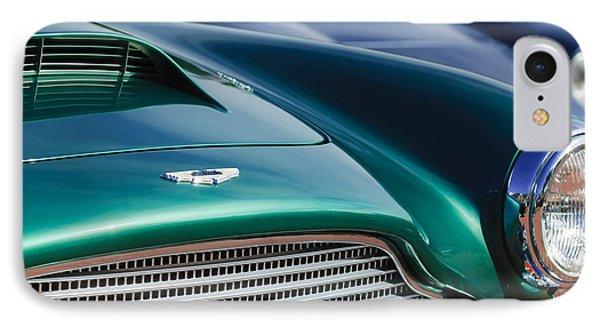 1960 Aston Martin Db4 Series II Grille - Hood Emblem Phone Case by Jill Reger