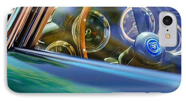 1960 Aston Martin Db4 Series II Steering Wheel Phone Case by Jill Reger