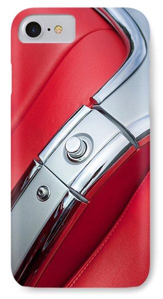 1960 Chevrolet Corvette Compartment Phone Case by Jill Reger