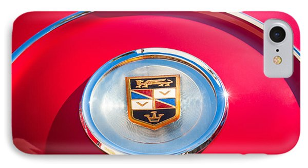1960 Chrysler Imperial Crown Convertible Emblem Phone Case by Jill Reger