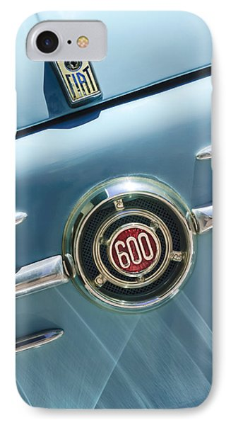 1960 Fiat 600 Jolly Emblem Phone Case by Jill Reger