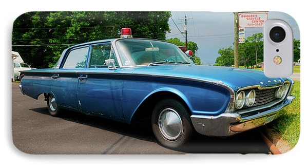 1960 Ford Police Car In Mount Airy IPhone Case