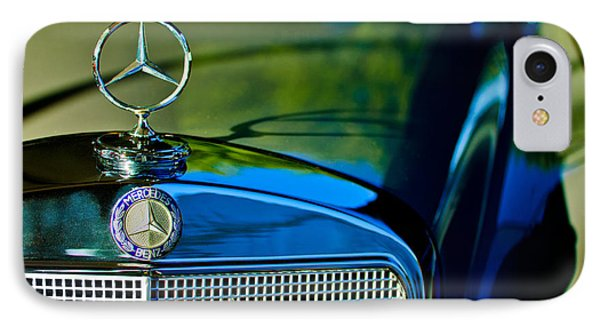 1960 Mercedes-benz 220 Se Convertible Hood Ornament Phone Case by Jill Reger
