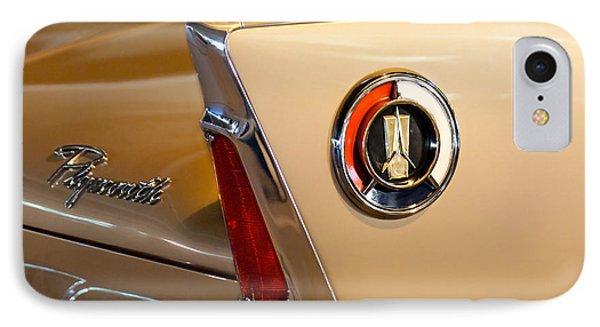 1960 Plymouth Fury Convertible Taillight And Emblem IPhone Case by Jill Reger
