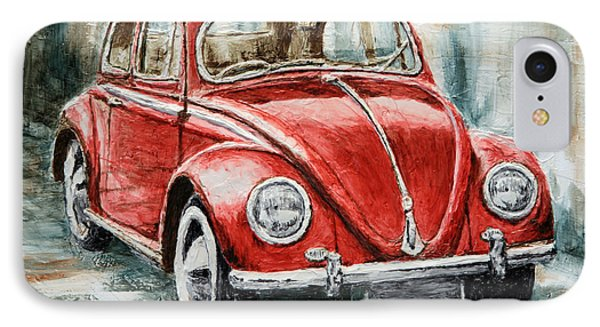 1960 Volkswagen Beetle 2 IPhone Case by Joey Agbayani