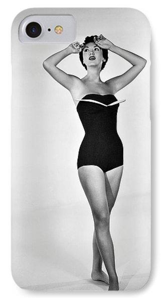 1960s Bathing Suit Design IPhone Case by Underwood Archives