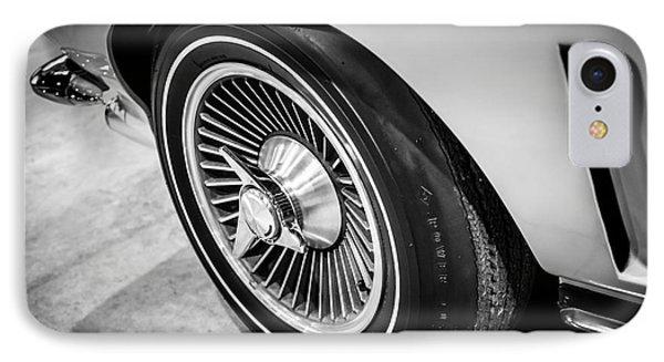 1960's Chevrolet Corvette C2 Spinner Wheel IPhone Case by Paul Velgos