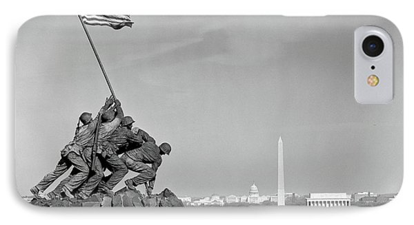 Capitol Building iPhone 7 Case - 1960s Marine Corps Monument by Vintage Images