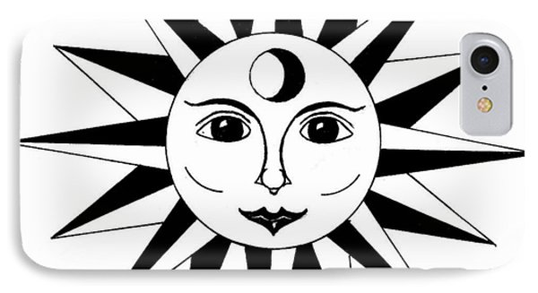 1960's Sun Figure IPhone Case by Michael Dohnalek
