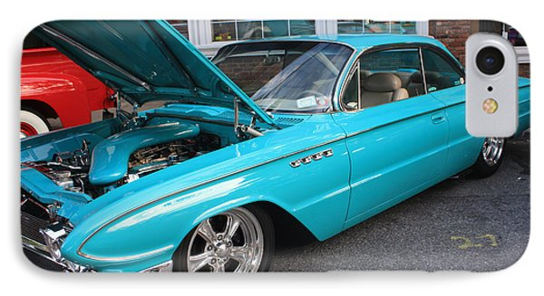 1961 Buick Two Door Sedan Front And Side View Phone Case by John Telfer