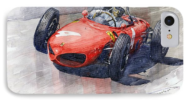 1961 Germany Gp Ferrari 156 Phil Hill Phone Case by Yuriy Shevchuk