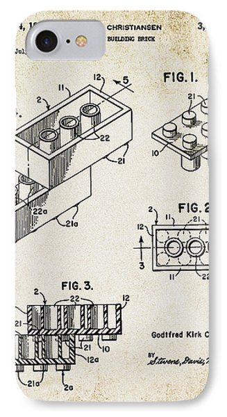 1961 Lego Patent Phone Case by Bill Cannon