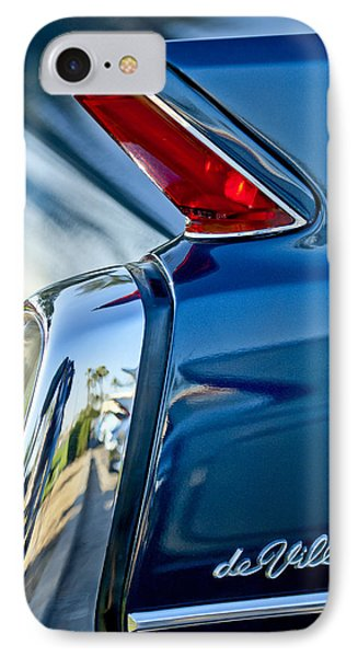 1962 Cadillac Deville Taillight IPhone Case by Jill Reger