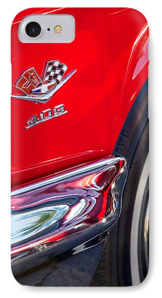 1962 Chevrolet Impala Ss 409 Emblem IPhone Case by Jill Reger