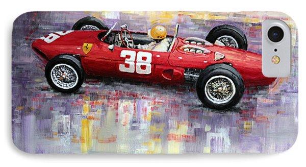 1962 Ricardo Rodriguez Ferrari 156 IPhone Case by Yuriy Shevchuk
