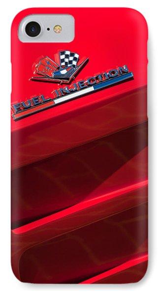1963 Chevrolet Corvette Sting Ray Split-window Race Car Fuel Injection Emblem IPhone Case by Jill Reger