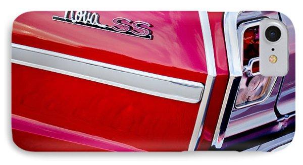 1963 Chevrolet Nova Convertible Taillight Emblem IPhone Case by Jill Reger