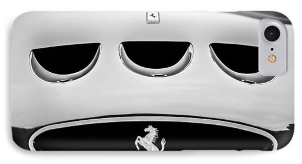 1963 Ferrari 250 Gto Grille Emblem -1753bw IPhone Case by Jill Reger