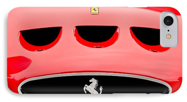 1963 Ferrari 250 Gto Grille Emblem -1753c IPhone Case by Jill Reger
