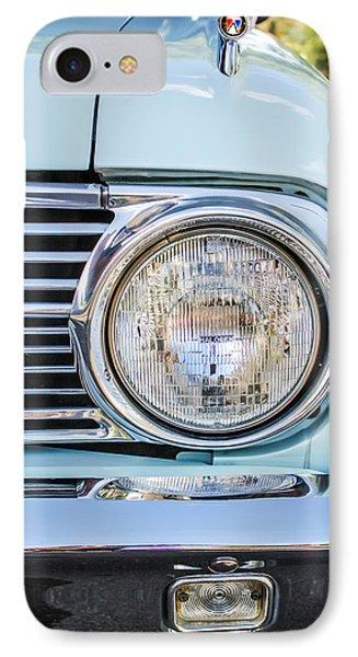 1963 Ford Falcon Futura Convertible Headlight - Hood Ornament IPhone Case by Jill Reger