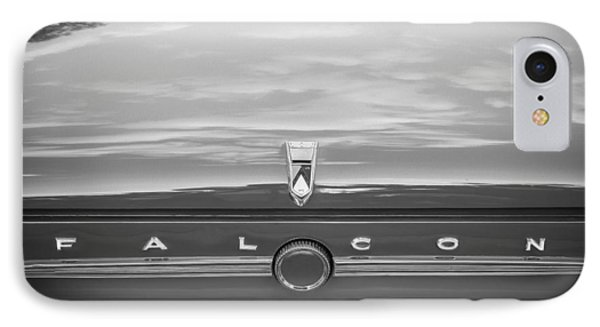 1963 Ford Falcon Sprint Convertible Bw    Phone Case by Rich Franco