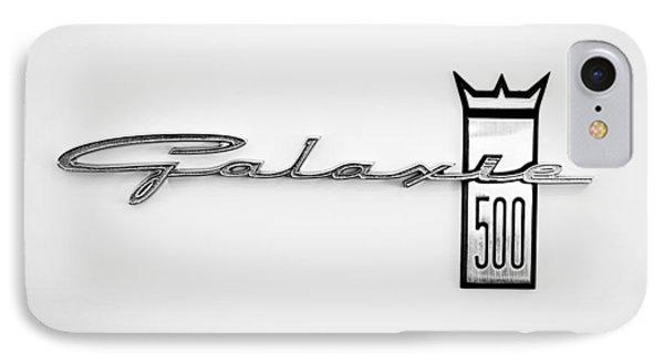 1963 Ford Galaxie 500 R-code Factory Lightweight Emblem IPhone Case by Jill Reger