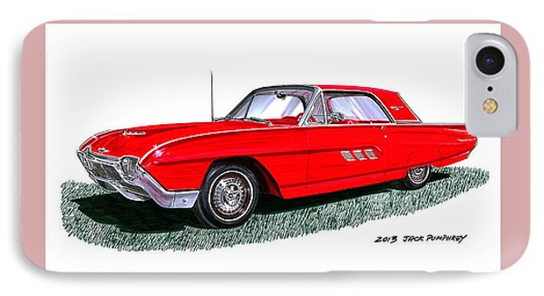 1963 Ford Thunderbird Phone Case by Jack Pumphrey