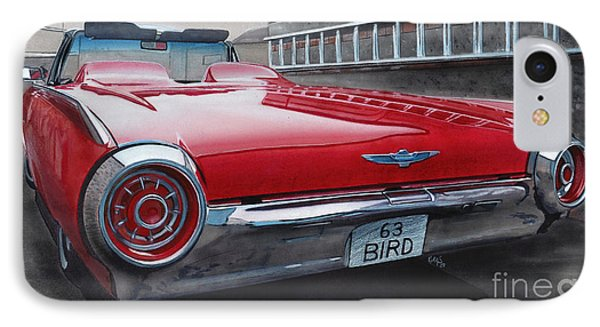 1963 Ford Thunderbird Phone Case by Paul Kuras