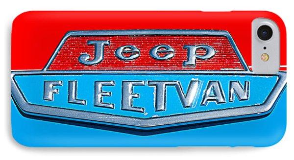 1963 Jeep Fleetwood Emblem Phone Case by Jill Reger