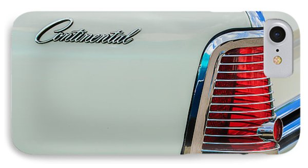 1963 Lincoln Continental Taillight Emblem -0905bw IPhone Case by Jill Reger