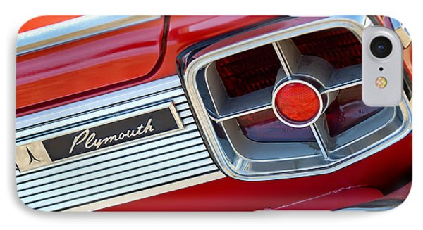 1963 Plymouth Fury Taillight Emblem -3321c IPhone Case by Jill Reger