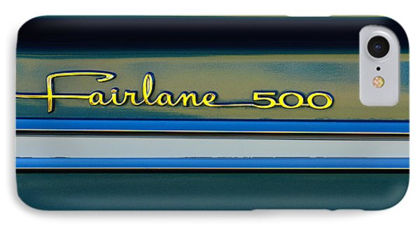 1964 Ford Fairlane 500 Emblem IPhone Case by Jill Reger