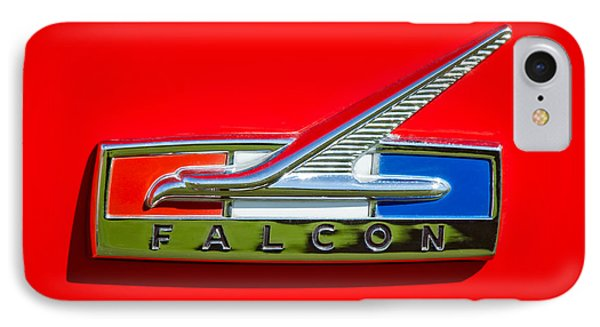1964 Ford Falcon Emblem IPhone Case by Jill Reger