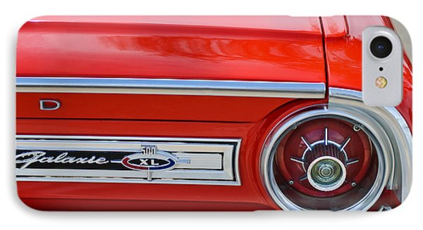 1964 Ford Galaxie 500xl Taillight Emblem IPhone Case by Jill Reger