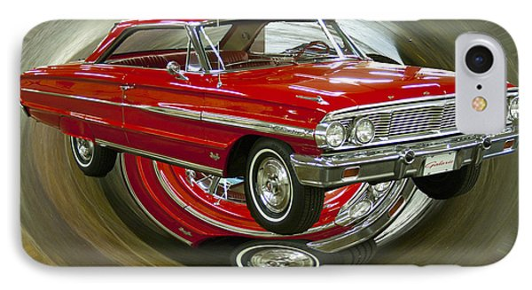 IPhone Case featuring the photograph 1964 Ford Galaxie by B Wayne Mullins