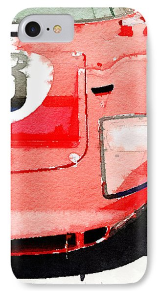 1964 Ford Gt40 Front Detail Watercolor IPhone Case by Naxart Studio