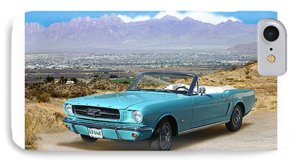 1964 Mustang Convertible IPhone Case by Jack Pumphrey