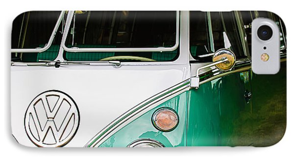 1964 Volkswagen Vw Samba 21 Window Bus IPhone Case by Jill Reger
