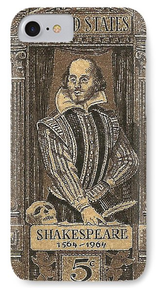 1964 William Shakespeare Postage Stamp IPhone Case by David Patterson