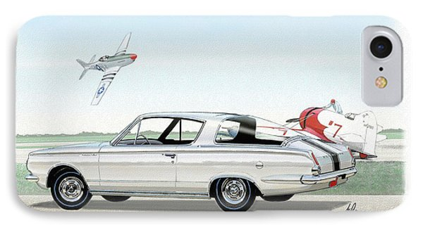 1965 Barracuda  Classic Plymouth Muscle Car IPhone Case by John Samsen
