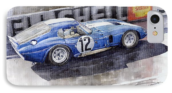 1965 Le Mans  Daytona Cobra Coupe  IPhone 7 Case by Yuriy Shevchuk