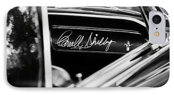 1965 Shelby Prototype Ford Mustang Carroll Shelby Signature IPhone Case by Jill Reger