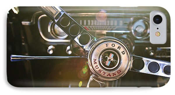 1965 Shelby Prototype Ford Mustang Steering Wheel Emblem Phone Case by Jill Reger