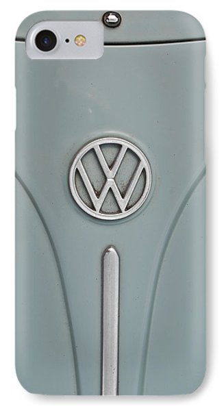 1965 Volkswagen Beetle Hood Emblem IPhone Case by Jani Freimann