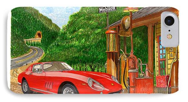 1966 Ferrari 275 G B T Getting Gas IPhone Case by Jack Pumphrey