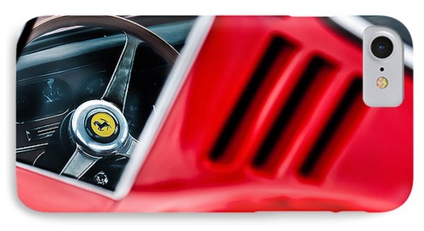 1966 Ferrari 275 Gtb Steering Wheel Emblem -0563c IPhone Case