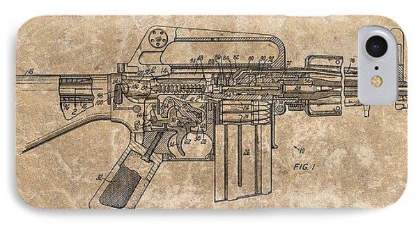 1966 Machine Gun Patent IPhone Case