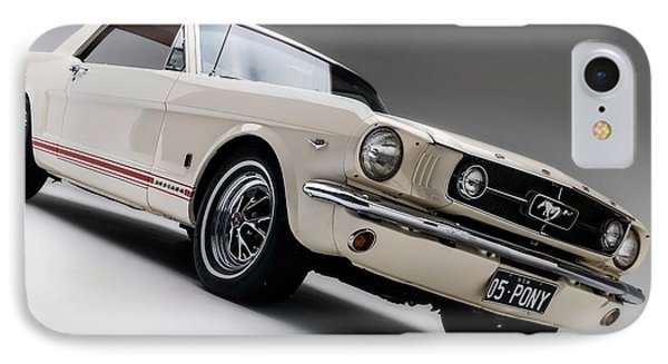 IPhone Case featuring the photograph 1966 Mustang Gt by Gianfranco Weiss