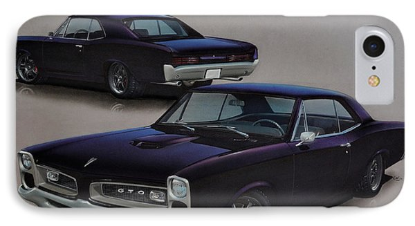 1966 Pontiac Gto IPhone Case by Paul Kuras