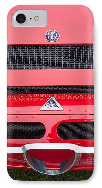 1967 Alfa Romeo Tz2 Zagato Coupe Hood Ornament Phone Case by Jill Reger